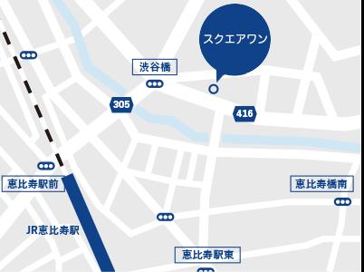 M&A、事業承継の会社スクエアワンの地図